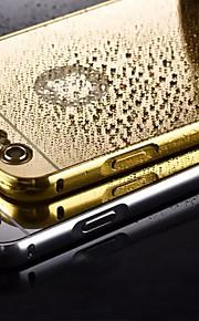plating speil tilbake med metallramme telefon tilfelle for iphone 5 / 5s (assorterte farger)