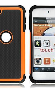 doppio plastica staccabile e custodia in silicone per iPod Touch 5 (colori assortiti)
