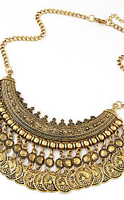 European Style Fashion Trend Wild Metal Coin Necklace