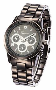 unisex legering band analog quartz armbåndsur (assorterede farver)