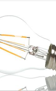 1 stk. HRY E26/E27 4W 4 Høyeffekts-LED 400LM lm Varm hvit / Kjølig hvit A60(A19) edison Vintage LED-glødepærer AC 220-240 V