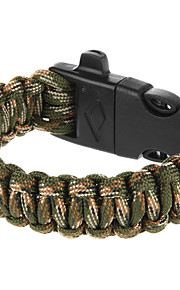 Outdoor Multi-purpose Survival Paracord Bracelet with Fire Starter and Safety Whistle