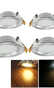 실버 (AC 90 ~ 265V) - youoklight® 4 개 7와트 3000K / 6000K 700lm 따뜻한 화이트 / 차가운 백색 천장 조명 LED 램프