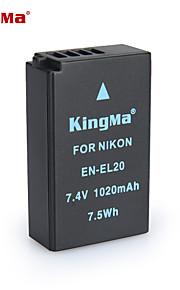 Kingma en-el20 bmpcc digitalt kamera batteri til Nikon Coolpix et J1 J2 J3 s1 AW1 mh-27