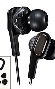 Newest Original HA-FXT90 HiFi Dual drive In-Ear Headphones 3.5mm Stereo earphone Bass Headset for Iphone 6 / 6Plus