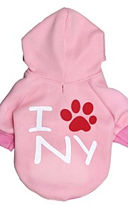 Gatos / Perros Saco y Capucha / Camiseta / Ropa / Ropa Rosado Primavera/Otoño Flores / Botánica Moda-Pething®