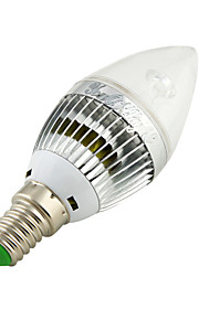 youoklight® 1pcs E14 3W 260lm 3000 / 6000K 3-høy effekt ledet bola stearinlys formet lampe (ac110-120 / 220-240V)