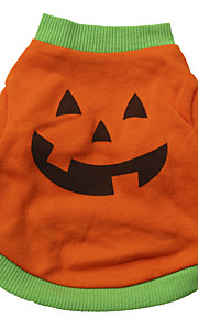 Gatos / Perros Disfraces / Camiseta Naranja Primavera/Otoño Halloween Cosplay / Moda / Halloween, Dog Clothes / Dog Clothing-Other