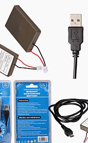 Batteries et chargeurs - PS4 / Sony PS4 - Rechargeable - PS/2 - en Polycarbonate / Plastique - For PS4 Controller - #
