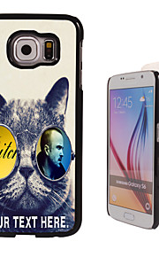 Personalized Case - Cool Cat Design Metal Case for Samsung Galaxy S6/ S6 edge/ note 5/ A8 and others