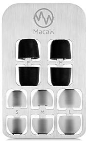 silicone de dupla densidade e esponja tampa tampão m3 (silicone dentro de quatro milímetros de diâmetro / esponja para dentro 4,5