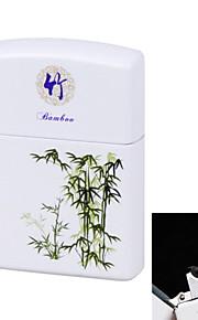 Blue & White Porcelain ARC Pulse Charging USB Lighter Ultra Thin Windproof Electronic Cigarette Lighter Bamboo&White