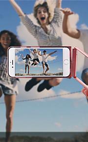 360 graus girar caso do telefone móvel de metal com função de auto-temporizador bluetooth para 6s iphone plus / 6 mais