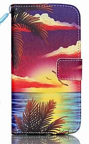 sjøen ved solnedgang mønster PU lær materiale flip-kort for Samsung Galaxy S3 / s3mini / s4 / s4mini / S5 / s5mini / S6 / s6edge / s6edge