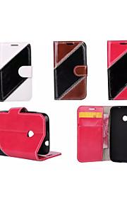sarga caja de lujo cartera de cuero bolsa híbrido cubierta del tirón para Nokia Lumia 530