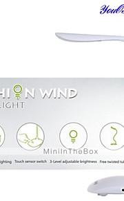 youoklight® usb genopladelige touch-sensor førte læselys reception bordlampe (DC 5V 500mA)