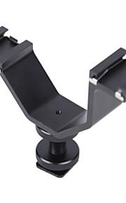 adaptador coldshoe micnova mq-DHA para microfone monitor LCD off-câmera lanterna led luz