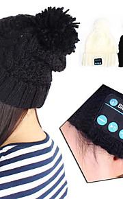 Bluetooth 3.0 music gorro macio chapéu com fone de ouvido estéreo alto-falante auricular sem fios