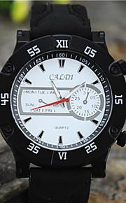 relógio de quartzo simples lazer moda cowboy de couro dos homens (cores sortidas)