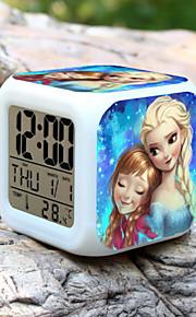 høj kvalitet kreative unik dejlig snemand farverige lille vækkeur ført elektronisk gaver / tegneserie vækkeur