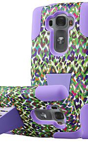 caso de goma de gel de silicona con PC de la piel de la cubierta del soporte para lg g flex 2 (colores surtidos)