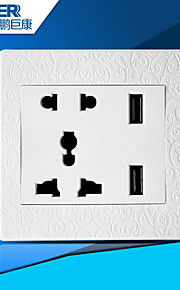 USB зарядка розетка также (резные белый)