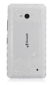 caso bilateral teléfono material de TPU patrón de flores para Nokia N640