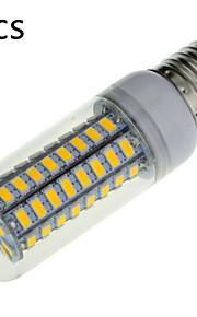 5 pcs E14 / E26/E27 18 W 72 SMD 5730 1650 LM Warm White / Cool White B Decorative Corn Bulbs AC 220-240 V