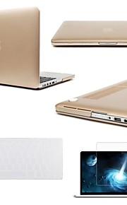 """3 맥북 망막 13 """"/ 15""""+ 키보드 커버 + 화면 보호기 1 금속 색상의 케이스 커버에"""