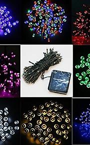 solcelledrevet 10m 50led vanntett string lys for christmas party / bryllup / utendørs