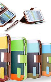 PU hybrides portefeuille en cuir pochette bascule cas de couverture de conception pour Samsung Galaxy S3 / S4 / S5 / S6 / S6 / S6