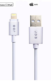 JDB 1 Meter MFI-03 For Apple Authentication Lightning to  USB Data and Charge Cable Fit for iPhone5/5S/5C/6/6S
