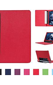 2016 nieuwste hot selling pu lichee patroon tablet dekking voor lenovo yoga tab3 10,1 inch diverse kleuren