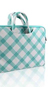 smith Sursee ® tragen Laptop-Hülle Canvas-Gewebe von 13 bis 13,3 Zoll (Aktenkoffer grünen schräge Gitter)
