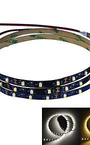 Jiawen 100cm 4w 60x3528smd hvit / varmt hvitt lys LED strip lampe for bil og kabinett (DC 12V)