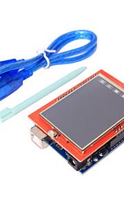 UNO R3 ATmega328P Board + 2.4 Inch TFT LCD Touch Screen Module for Arduino