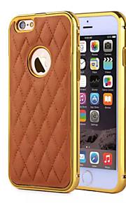 hzbyc® nye lammeskinn luksus skinn linjer ekte lær metall tpu integrert ramme sak for Apple iPhone 5 / 5s