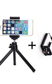 liga de alumínio mini-tripé e braçadeira com grampo do telefone móvel