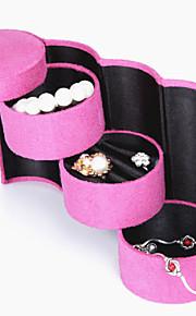Smykkeskrin Læder 1pc Pink