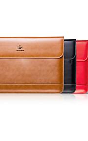 lention натуральная кожа ударопрочного против царапин тонкий ноутбук проведения сумка рукав для 15-дюймовый MacBook-