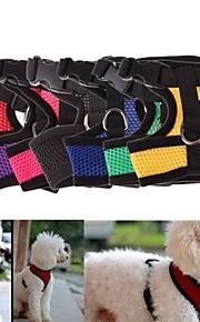 레드 / 블랙 / 그린 / 블루 / 핑크 / 옐로우 / 퍼플 - 리트랙터블 / 코스프레 - 직물 - 하니스 - 개 / 고양이