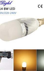 youoklight® 1pcs e14 8w 700lm 28-2835smd 3000K / 6000K høy lysstyrke&lang levetid 45,000h ledet lys ac110-120v / 220-240V