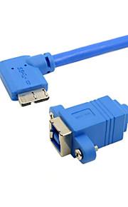 cy® vrouwelijke usb 3.0 naar links draaien micro usb 3.0 (0,2 m)