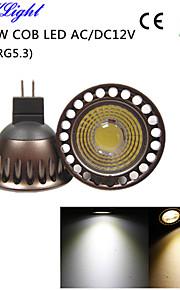 youoklight® 1pcs RM16 5W 400lm 3000K / 6000K 1 x cob ledet spotlight høgre kjøleeffekt&høy kvalitet (ac / DC12V)