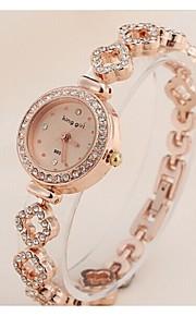 Mulheres Relógio de Moda Quartz Aço Inoxidável Banda Relógio de Pulso Ouro Rose