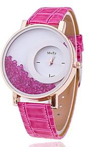 circular relógio contas de rolamento de pulso de quartzo das mulheres (cores sortidas)