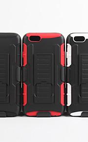 2 1 디자인 케이스 하드 플라스틱 피부 + iphone6 부드러운 외부 실리콘 내부 쉘 케이스 플러스 / 6S 플러스 (모듬 색상)