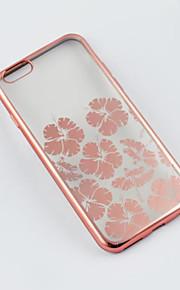 iphone6 / 기가 다시 경우 꽃이 전기 도금 TPU