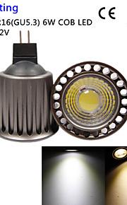 qslighting 1pcs RM16 6w 500lm 3000 / 6000K 1xcob ledet spotlight-høyere kjøleeffekt&gjenopprette gamle måter-ac / DC12V