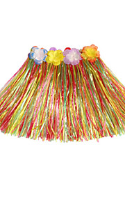 40cm Kid's Fire-Proof Double Layers Hawaiian Carnival Hula Dress Only Waist Elastic